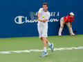 Adrian mannarino plays center court at the winston salem open Stock Images