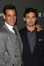 Adrian pasdar milo ventimiglia and at heroes countdown to the premiere party edison lounge downtown los angeles ca Stock Image