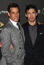 Adrian pasdar milo ventimiglia and at heroes countdown to the premiere party edison lounge downtown los angeles ca Stock Photography