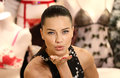 Adriana lima victoria s secret visits the store on bond street london picture by henry harris featureflash Stock Photo