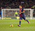 Adriano correia of fcb in action at the spanish league match between fc barcelona and osasuna final score on january in barcelona Stock Images