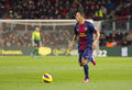 Adriano correia of fcb in action at the spanish league match between fc barcelona and osasuna final score on january in barcelona Royalty Free Stock Images