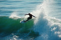 Adriano DeSouza Surfing in Santa Cruz California Royalty Free Stock Images