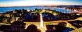 Adriatic city of Zadar aerial panorama Royalty Free Stock Photo
