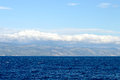 Adriatic Sea and clouds above