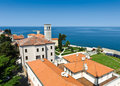 Adriatic sea coast of Porec Stock Image