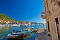 Adriatic town of Komiza old architecture Royalty Free Stock Photo