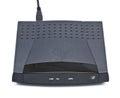 Adsl modem router on white background Stock Image