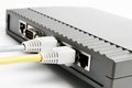 Adsl router and switch with cable Royalty Free Stock Photo