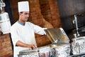 Arab Chef With Food At Restaur...