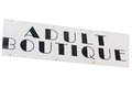 Adult boutique an sign on a white background Royalty Free Stock Photo