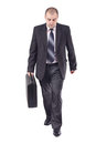 Adult business man in his way to the workplace Royalty Free Stock Photography
