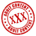 Adult content rubber stamp