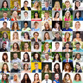 Adult portraits of beautiful men and women Royalty Free Stock Photo
