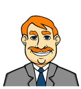 Adult smiling man in cartoon style for lifestyle design Royalty Free Stock Photo