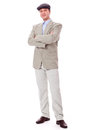 Adult successful smiling man in casual business outfit isolated Royalty Free Stock Image