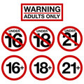 Adults Only Royalty Free Stock Photo