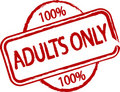 Adults only Stock Photo