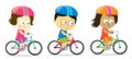 Adults biking illustration of a group of people riding bikes Royalty Free Stock Photo