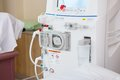 Advanced dialysis machine in hospital cropped image of Stock Photography