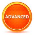 Advanced Natural Orange Round Button Royalty Free Stock Photo