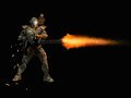 Advanced super soldier Royalty Free Stock Photo