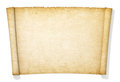 Advanced yellowed and old roll of paper Stock Images