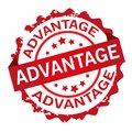 Advantage stamp. Sign.Seal. Royalty Free Stock Photo