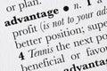 Advantage word dictionary defi Royalty Free Stock Photo