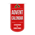 Advent calendar banner design