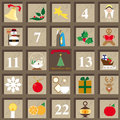 Advent calendar countdown with the Stock Photography