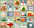 Advent calendar stamps