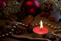 Advent candle Stock Images