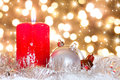 Advent, candle in atmospheric light Stock Image