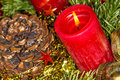 Advent Wreath With Burning Can...