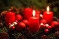 Advent Wreath With 2 Burning C...