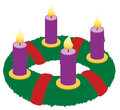 Advent Wreath Illustration Icon Symbol