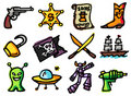 Adventure icons Royalty Free Stock Photos