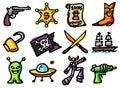 Adventure icons Royalty Free Stock Photo