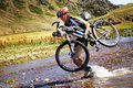 Adventure mountain bike competition Royalty Free Stock Photography