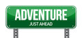 Adventure road sign illustration design over a white background Royalty Free Stock Image