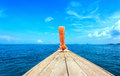 Adventure seascape background of trip journey by tourist boat Royalty Free Stock Photo