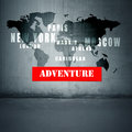 Adventure text bottom world countries Royalty Free Stock Photography
