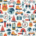 Adventure traveling pattern Royalty Free Stock Images