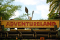 Adventureland entrance to in disney s magic kingdom florida Royalty Free Stock Image