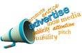 Advertise bullhorn or loudspeaker
