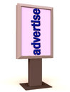 Advertise on a display