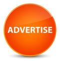 Advertise elegant orange round button