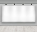 Advertise here - blank advertising banner Royalty Free Stock Photo