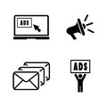 Advertise. Simple Related Vector Icons